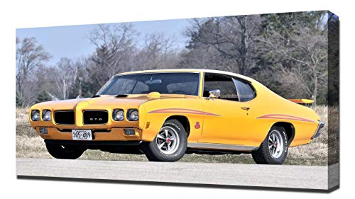Lilarama USA 1970 Pontiac GTO Judge Hardtop Coupe V1 - Canvas Art Print - Wall Art - Canvas - Pontiac Gto Judge Hardtop