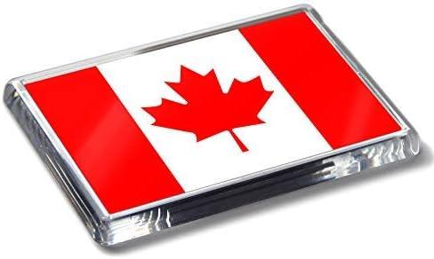 Flag of Canada National - Imán para nevera (acrílico, diseño de bandera de Canadá): Amazon.es: Hogar
