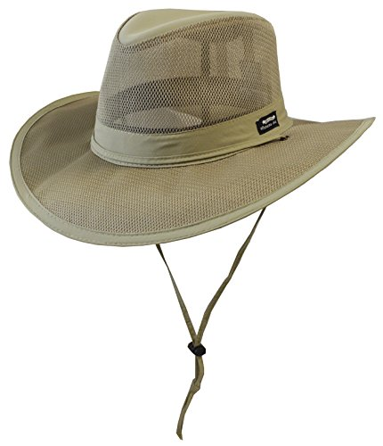 (Panama Jack Men's Mesh Safari Hat Large Khaki)
