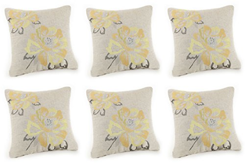 Better Homes & Gardens Yellow Blossom Square Decorative Pillow (6) from Better Homes and Gardens