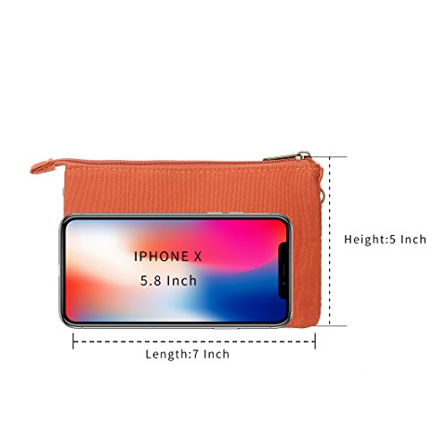 Cell Teen Purse Purse For Bags Canvas Girls Crossbody Phone Colorful Wallet Women Orange2 Small ATAxBrpqaw