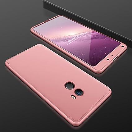 Ququcheng Funda Xiaomi Mi Mix 2,Carcasa Xiaomi Mi Mix 2[con Protector de Pantalla] 3 en 1 Desmontable 360°Protection Case Ultra-Delgado Cover Caso La ...
