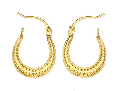 Boucles d'oreilles créoles Femme - E-10216 - Or jaune (9 carats) 0.38 Gr