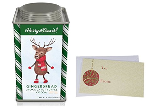 Hot Chocolate Cocoa mix for Christmas Holiday, Harry & David Moose Munch, Candy Cane and Gingerbread Chocolate Truffle, Butter White Choc., 6.25 oz. Gift Tin. (Gingerbread (Gingerbread Candy)