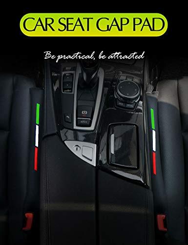 schwarz andere Fahrzeuge Abarth Alfa Romeo 2 St/ück 46 cm italienische Flagge PU Kunstleder Autositz Fugend/üse Spalt F/üllschlitz Abdeckung Abdeckung Pad f/ür Universal Fit f/ür Ferrari Lancia Fiat