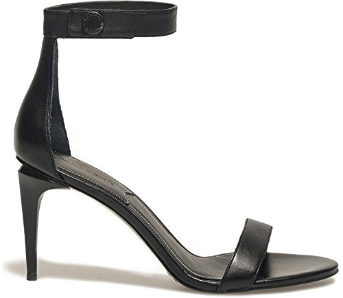 Kendall + Kylie Women's Madelyn Women's Leather Black Sandals In Size 40 Black