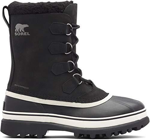 Sorel - Men's Caribou Waterproof Boot for Winter, Black/Dark Stone, 10.5 M US