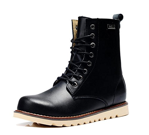 Lemontree Herren Winter Leder Boots 233 Schwarz
