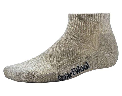 SmartWool Men's Hike Ultra Light Mini Socks (Oatmeal) Small - Smartwool Athletic Light Mini