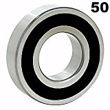 BC Precision BC506203 Fifty (50) 6203-2RS Sealed Bearings 17x40x12 Ball Bearing/Pre-Lubricated