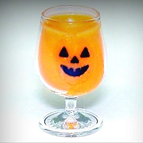 Dollhouse Halloween Jack O Lantern Pumpkin Punch Cocktail 1:12 Miniatures - My Mini Garden Dollhouse Accessories for Outdoor or House Decor -