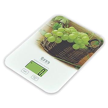 Tm Electron TMPBS019 Báscula Digital de Cocina ultradelgada con diseño de UVA, Pantalla LCD de 24 mm: Amazon.es: Hogar