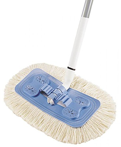 Quickie - Home Pro Soft & Swivel Dust Mop Refill, Microfiber/Chenille - Green by MegaDeal