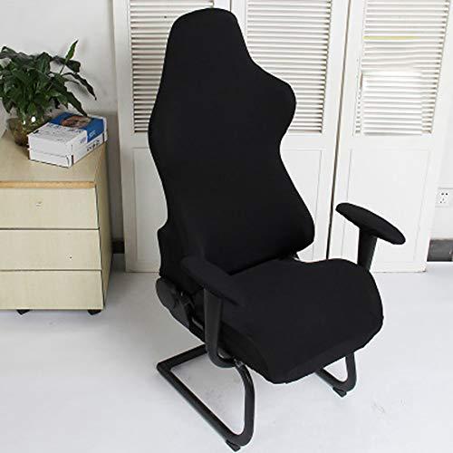 Cleme Fundas para sillas Asientos para computadora Spandex Moderno Sillones elasticos extraibles Decoracion Protector poliester Lavable Office Soft Gaming(Negro)