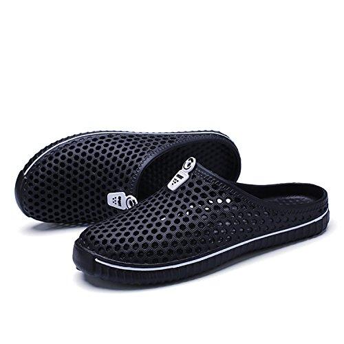 welltree - Zapatillas de estar por casa de Material Sintético para hombre DarkBlack