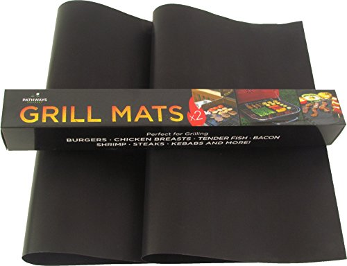 Grill Mat from Pathways Culinary – Set of 2 BBQ Grill Mats – Non-Stick, Washable & Reusable – Extended Warranty by Pathways Culinary