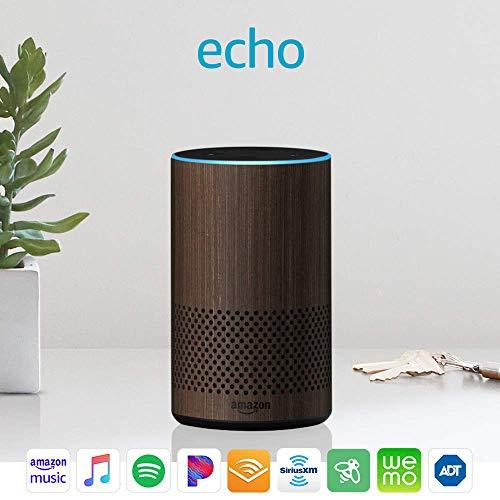 all new amazon echo speaker with wifi alexa walnut