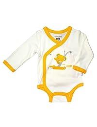 Babysoy O Soy Kimono Bodysuit, Koala, 3-6 months