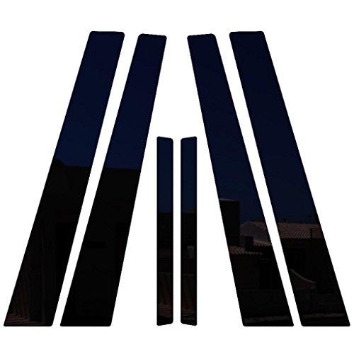 Ferreus Industries Piano Black Pillar Post Trim Cover fits: 2007-2012 Nissan Altima 4 Door Sedan PIL-011-GB