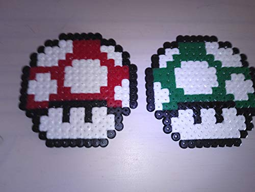 Mushroom Mario Pixel Art Perler Beads Ironing Pearl