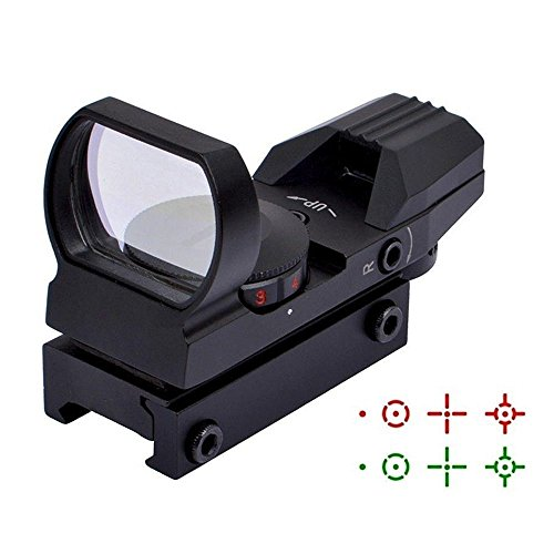 Ohuhu Gun Sight, Red Green Dot Scope Reflex Sights with 4 Reticles, Black/Sand