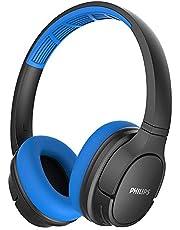 Philips ActionFit Wireless On-Ear Headphone (Sweat/Water proof),Blue & Black,Medium,SH402
