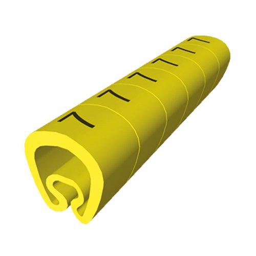 Amarillo Color B Carta Unex 1812-B PVC Plastificado Se/ñalizadores Precortados para 4mm to 8mm Cableados Paquete de 1000