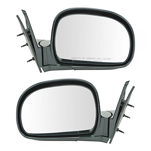 Manual Side View Mirrors Left & Right Pair Set for Blazer Jimmy S10 Pickup ()