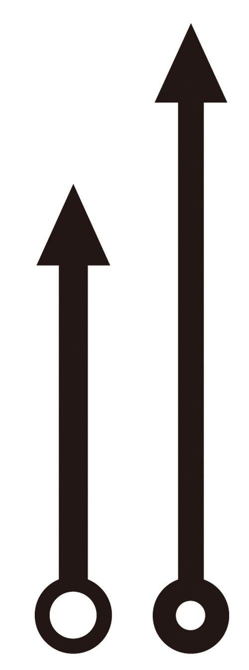 64 e 86 mm frecce orologio Artemio vivavoce nero