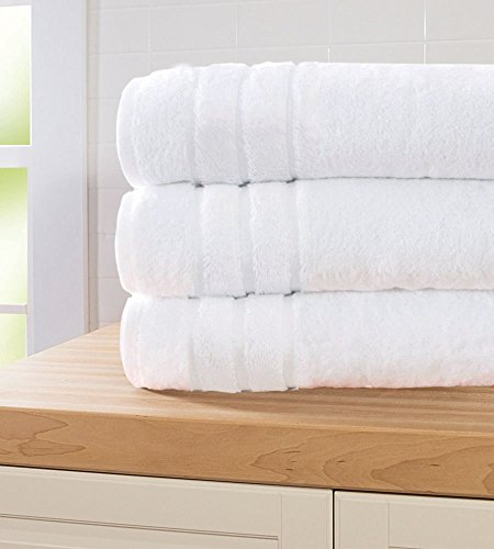 Cariloha 600 GSM Bamboo & Turkish Cotton Bath Sheet - Odor Resistant, Highly Absorbent - Includes 1 Towel - White