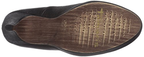 Tamaris 22417 - zapatos de tacón cerrados de material sintético mujer negro - Schwarz (Black Struct. 006)