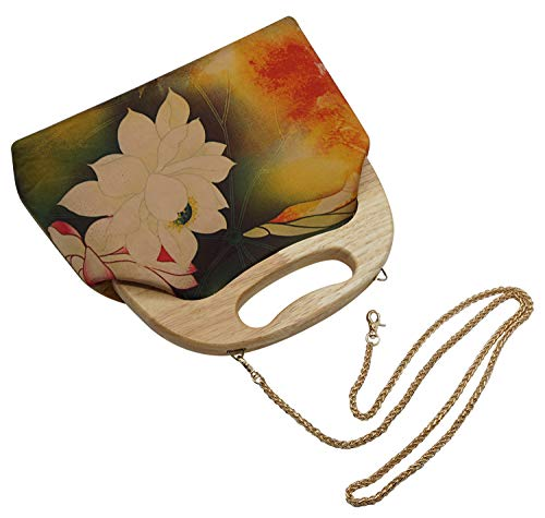 Leisure Chin Party Purse with Handmade for Crossbody Womens Clutch Strap Bellady Lotus Handbag Bag or Work TPq7B