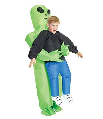 TOT Inflatable Costume Alien Pick Me Up Costume Kids Fancy Dress Halloween Green ()