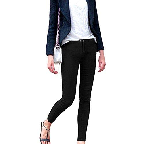Mujer Pantalones Slim Fit Stretch Jeggings Black