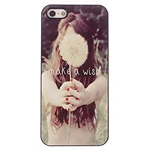 TOPAA Make a Wish Letter Design Aluminium Hard Case for iPhone 4/4S