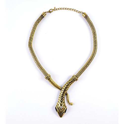 Gold Snake Necklace For Egyptian Queen Cleopatra Fancy Dress Accessory Halloween