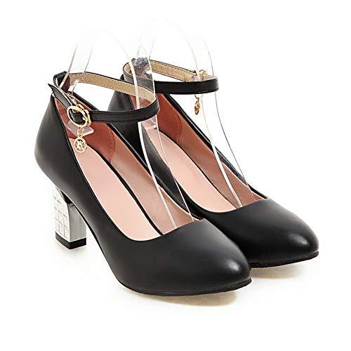 5 Femme BalaMasa APL10519 Sandales EU 36 Noir Noir Compensées Pq0tpwq