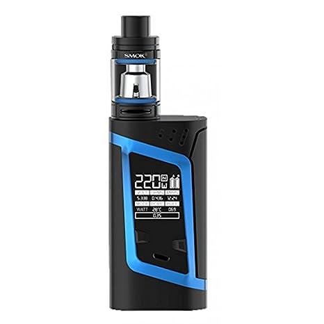 SMOK Alien Kit 220W TC y TFV8 Baby Kit, negro y azul, para la celda 2 x 18650 batería - ni nicotina, ni tabaco