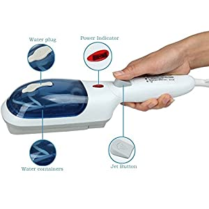 Magnet Multi-Purpose Home or Travel Portable Handheld Steamer for Clothes Winle Ironing, Stain Removal, Curtains, Crevasses, Bed Bug Control, Car Seats