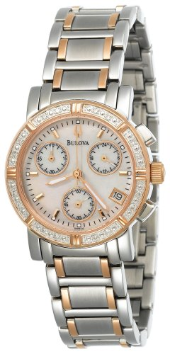 Bulova Women's 98W04 Marine Star Diamond Chronograph Watch