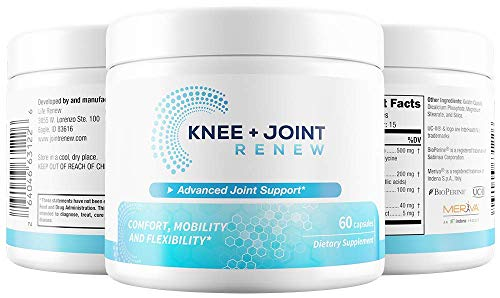 Nerve Renew: Knee & Joint Renew - Joint Pain Relief - 30 Day Supply - All Natural Formula - Patented Ingredients Proven to Work - Increases Joint Mobility