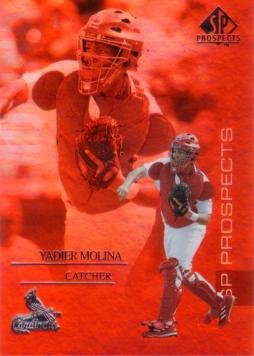 (2004 Upper Deck SP Prospects Baseball #140 Yadier Molina Rookie Card)
