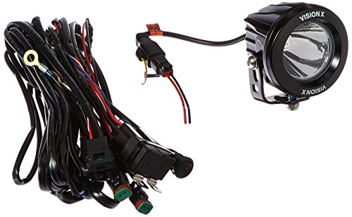Vision X Lighting 9141251 Optimus Black Round 10W Narrow LED Spot Light - Pair (Auto Iris Dc Drive)