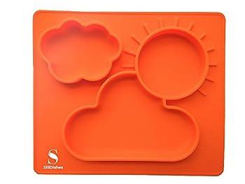 SiliDishes Silicone Sunshine Placemat Tray (Orange)