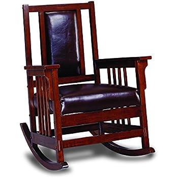 Coaster Mission Style Rocking Wood and Leather Chair Rocker  sc 1 st  Amazon.com & Amazon.com: Ashley Furniture Signature Design - Santa Fe Recliner ... islam-shia.org