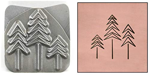 Trees Metal Stamp, 11mm Evergreen Forest Christmas Winter Punch Stamping Tool for Hand Stamped DIY Jewelry Crafts - Beaducation Original Metal Design Stamps