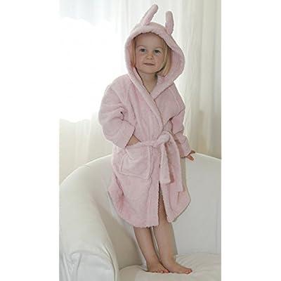 Leela Cotton peignoir enfant rose–Peignoir bébé en coton bio