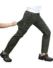 KEFITEVD Wandelbroek voor heren, 4-weg stretch, sneldrogend, trekkingbroek, ademend, bergbroek, stretchband, broek, vrije tijd, wandelen, functionele broek