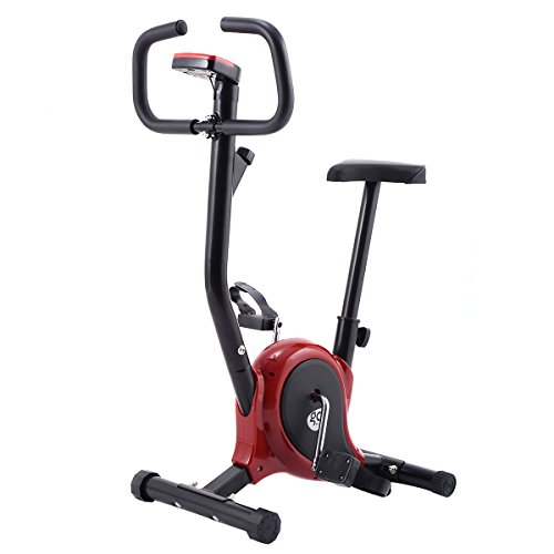 Goplus Fitness Cycling Upright Exercise Bike Stationary Cardio Aerobic Equipment, Red Superbuy