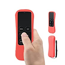 Amazon FBA SIKAI® Patent The New Apple TV 4Gen Siri Remote case Non-Slip-Grip & Secure for Apple TV Siri Remote Ergonomic design Silicone case for Apple TV case Siri case remote case Apple remote case Apple TV case (Red)